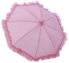 Kid's Ruffle Umbrella - Pink