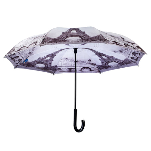 Picture of Paris Stick Umbrella Reverse Close
