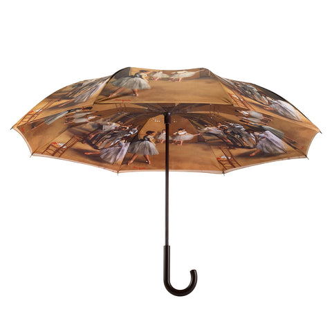 Picture of Ballerinas Stick Umbrella Reverse Close