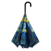 Starry Night Stick Umbrella Reverse Close