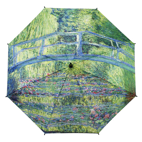 Picture of Monet Japanese Bridge Stick Umbrella