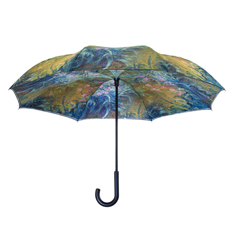 Picture of Irises by Monet RC Stick Umbrella