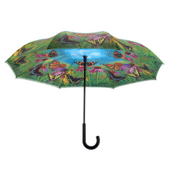 Butterfly Mountain  Stick Umbrella Reverse Close