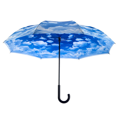 Picture of Clouds Stick Umbrella Reverse Close
