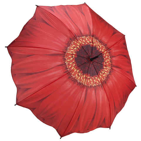 Picture of Red Daisy Stick Umbrella