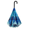Stained Glass Butterfly Stick Umbrella Reverse Close