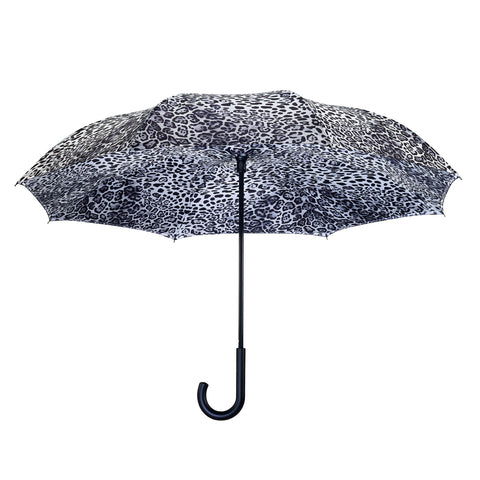 Picture of Leopard Skin Black & White RC Stick Umbrella