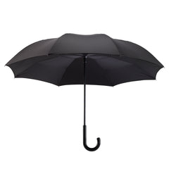 Black Stick Umbrella Reverse Close