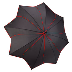 Black / Red Swirl Stick Umbrella