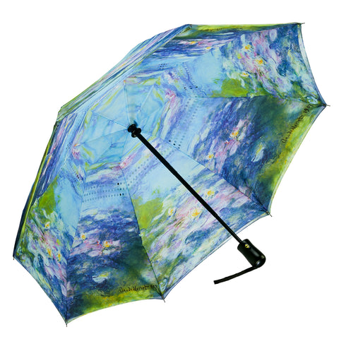 Picture of Water Lilies Close Folding Umbrella