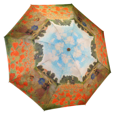 Picture of Poppy Field Reverse Close Folding Umbrella