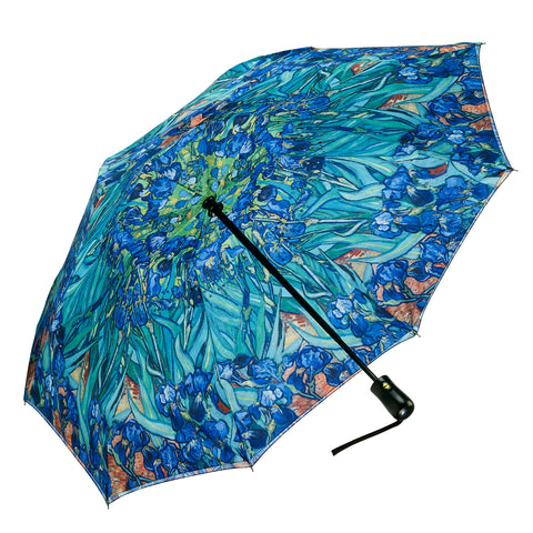 Picture of Van Gogh Irises Reverse Close Folding Umbrella