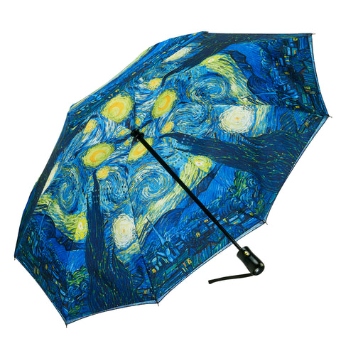 Picture of Van Gogh Starry Night Reverse Close Folding Umbrella