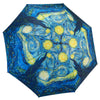 Van Gogh Starry Night Reverse Close Folding Umbrella