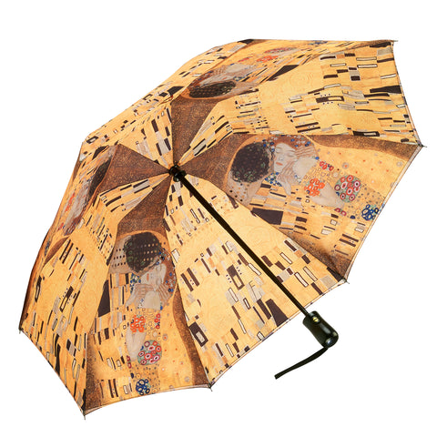 "Picture of Gustav Klimt ""The Kiss"" Reverse Close Folding Umbrella"