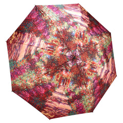 Monet, A Pathway in Monet's Garden Folding Umbrella