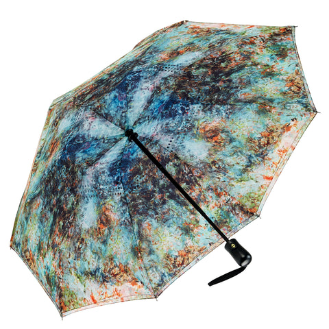 Picture of The House at Giverny Viewed From Rose Garden Stick Umbrella
