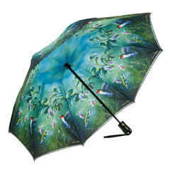 Humming Birds Reverse Close Folding Umbrella