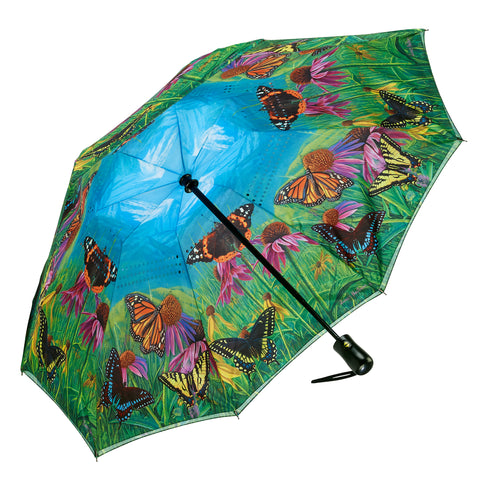 Picture of Butterfly Mountain Reverse Close Folding Umbrella