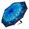 Stained Glass Dragonfly Reverse Close Folding Umbrella