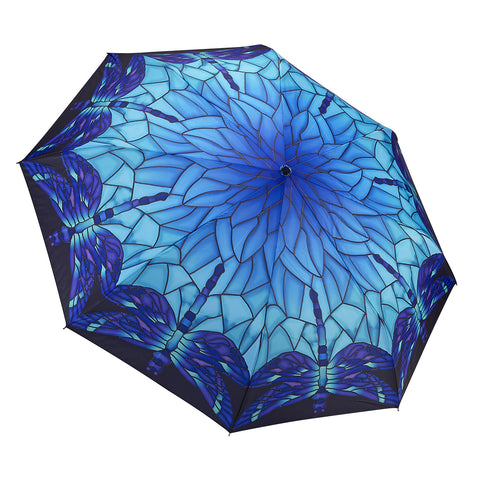 Picture of Stained Glass Dragonfly Folding Umbrella