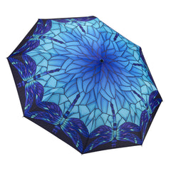 Stained Glass Dragonfly Folding Umbrella