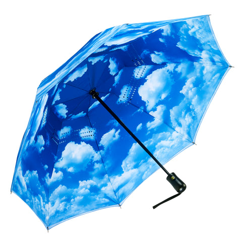 Picture of Clear Skies Reverse Close Folding Umbrella