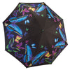 Moonlight Butterflies Reverse Close Folding Umbrella