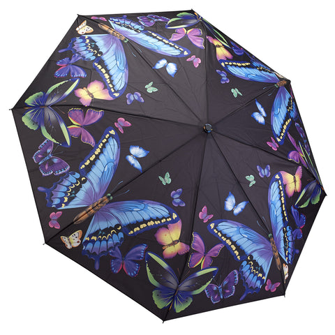 Picture of Galleria Moonlight Butterflies Folding Umbrella