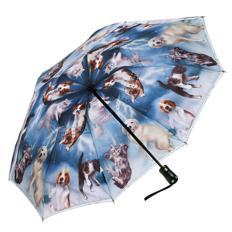 Picture of Cats & Dogs Reverse Close Folding Umbrella