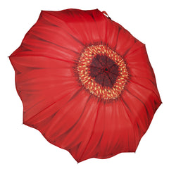 Red Daisy Folding Umbrella