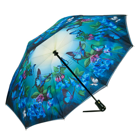 Picture of Bluebells Reverse Close Folding Umbrella