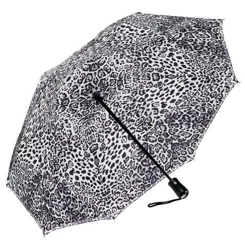 Picture of Leopard Skin Black & White RC Folding Umbrella