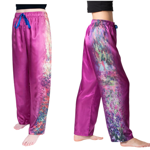 Picture of Monet Garden-Satin Pajama Pants