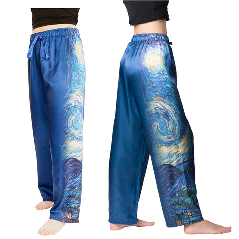 Picture of Starry Night-Satin Pajama Pants