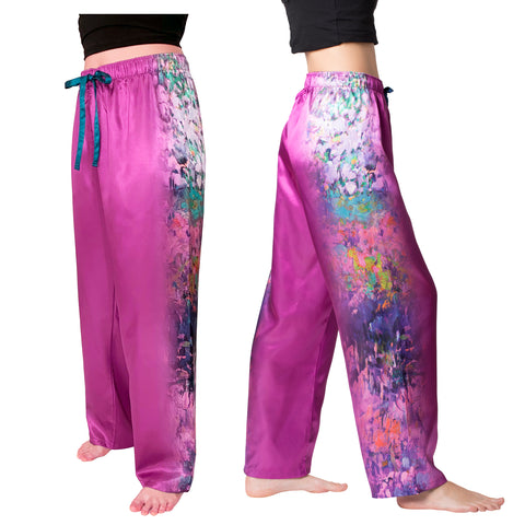 Picture of Garden Symphony-Satin Pajama Pants