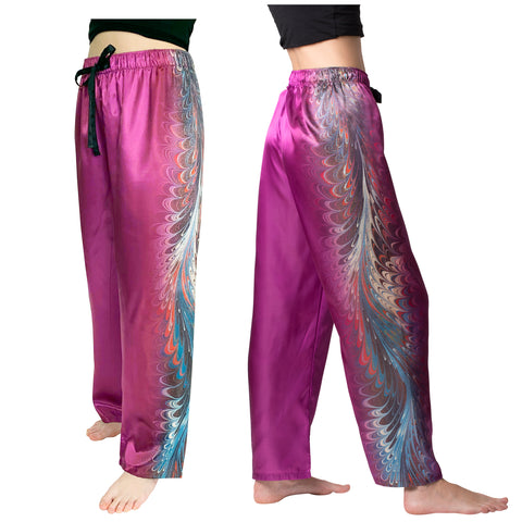Picture of Holly hill-Satin Pajama Pants