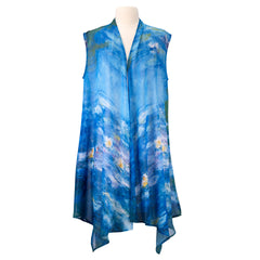 Monet Waterlilies Sheer Long Vest