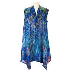 Van Gogh Irises Sheer Long Vest