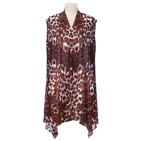 Picture of Leopard Skin Full Color Sheer Long Vest