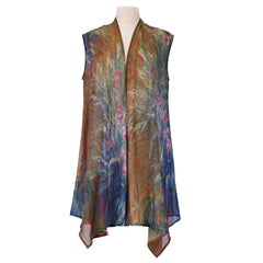 Irises by Monet Sheer Long Vest