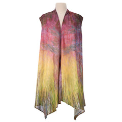 Waterlilies at Sunset Sheer Long Vests