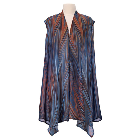 Picture of Midnight Sheer Long Vest