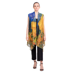 Van Gogh Café Terrace Sheer Long Vest