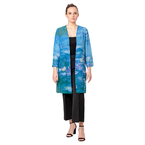 Picture of Monet Waterlilies Sheer Cardigan
