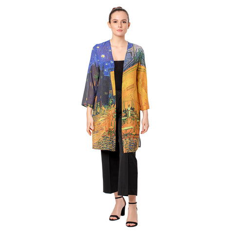 Picture of Van Gogh Café Terrace Sheer Cardigan