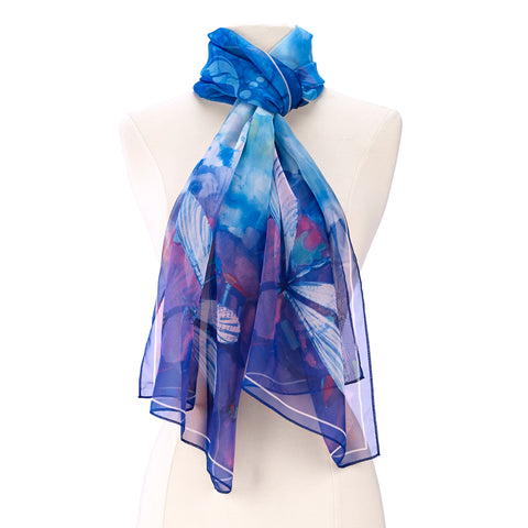 Picture of Stained Glass Dragonfly Scarf