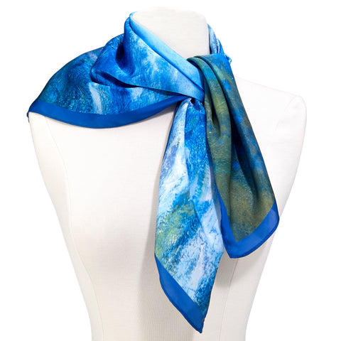 Picture of Monet Waterlilies Square Scarf