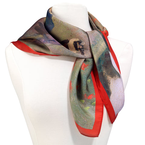 Picture of Monet Poppy Field Square Scarf