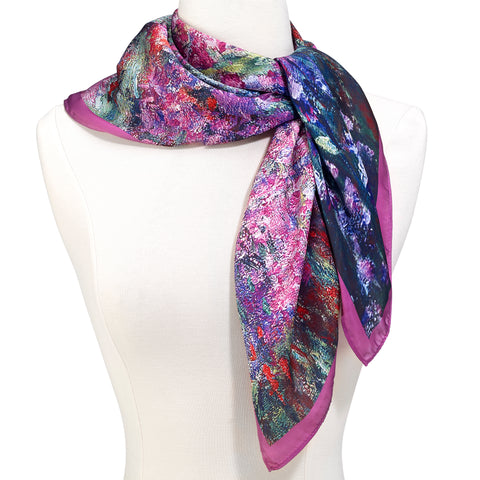 Picture of Monet Garden Square Scarf